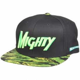 Mighty Healthy Tiger Style Snapback Cap - Black/Green