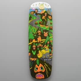Mike Vallely Barnyard Bigfoot (Grey Stain) Skateboard Deck 9.5''