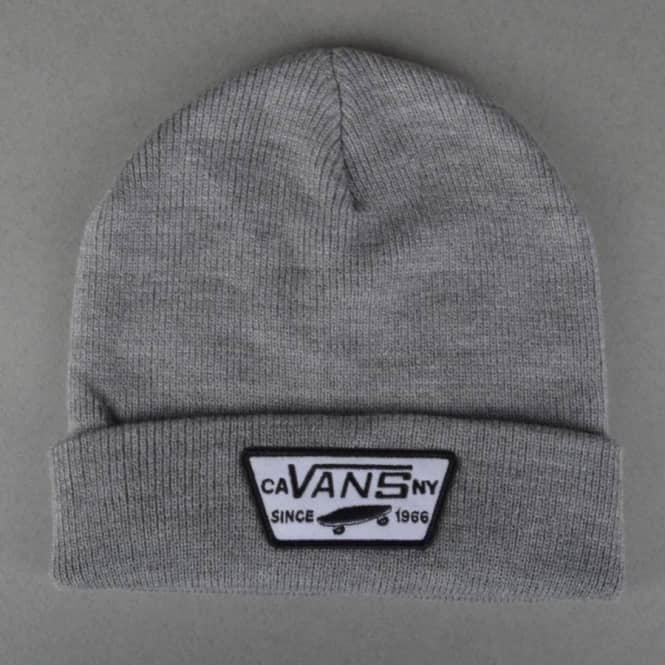 22267eb2a9e Vans Milford Fold Up Beanie - Heather Grey - SKATE CLOTHING from ...