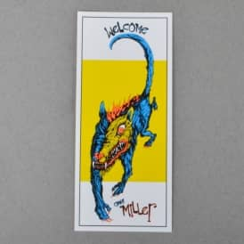Miller Beast Skateboard Sticker