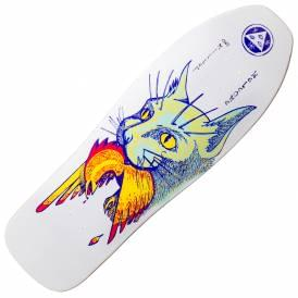 Miller Cat Gets Bird On Sugarcane (White) Skateboard Deck 10.0