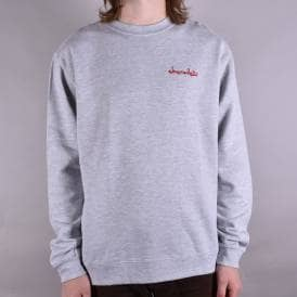 Mini Chunk Embroidered Crewneck Sweater - Heather Grey