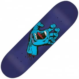 Santa Cruz Skateboards Minimal Hand Blue Skateboard Deck 8.25""
