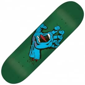 Santa Cruz Skateboards Minimal Hand Green Skateboard Deck 8.5""