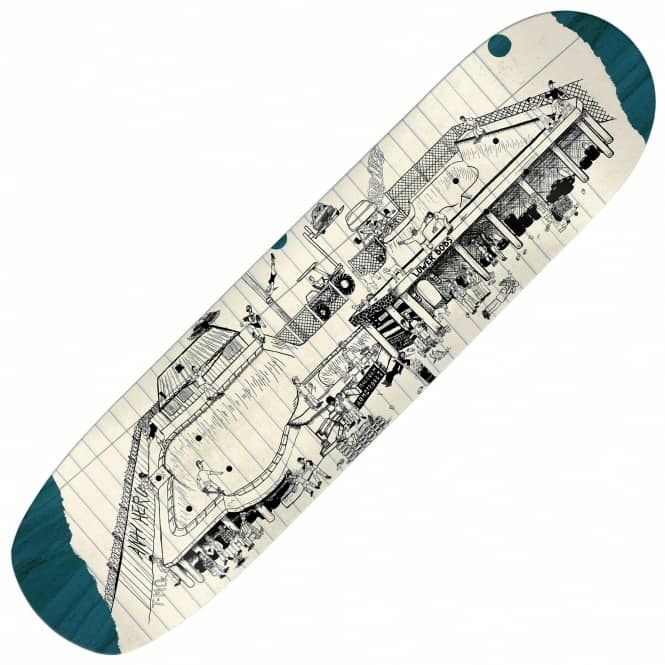 Antihero Skateboards Miorana Bobs Party Skateboard Deck 8.47