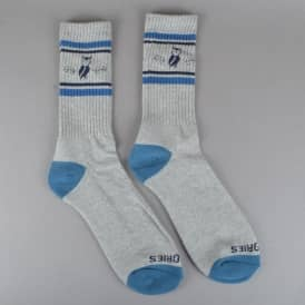 Moluch Socks - Heather Grey/Teal/Navy