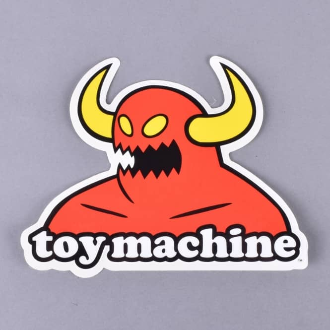 Toy Machine Skateboards Monster Skateboard Sticker - 4