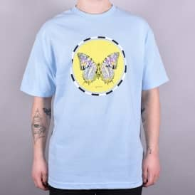 Moth Skate T-Shirt - Powder Blue