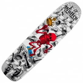 Powell Peralta Mullen Chess White Freestyle Series 9 Bones Brigade Reissue Skateboard Deck 7.4""