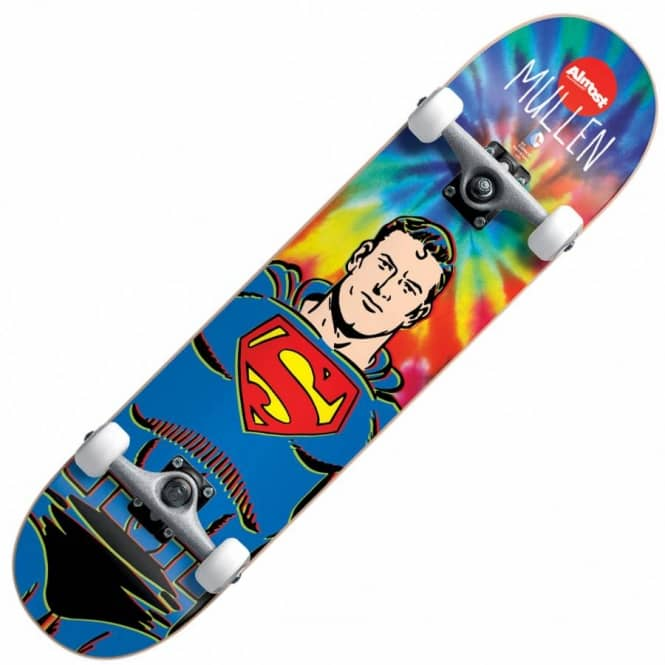 Almost Skateboards Mullen Superman Tie Dye Complete Skateboard 7.75