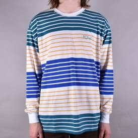 Multi-Colour Longsleeve Tee - White/Yellow/Blue