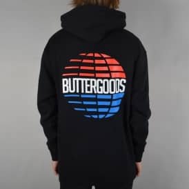 Multi-National Logo Pullover Hoodie - Black