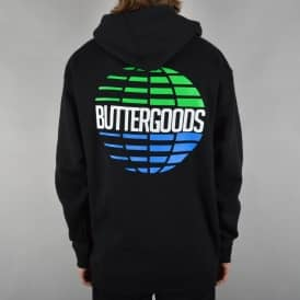 Multinational Pullover Hoodie - Black/Blue/Green