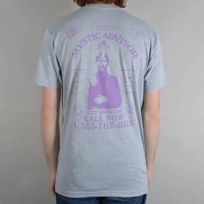 Theories of Atlantis Mystic Adviser Skate T-Shirt - Light Heather/Lavender