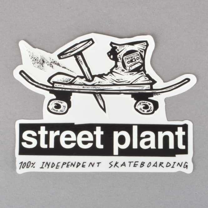 Street Plant Brand Nail And Boot Skateboard Sticker - 4