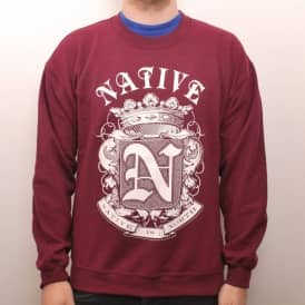 Native Crest Crew Burgundy