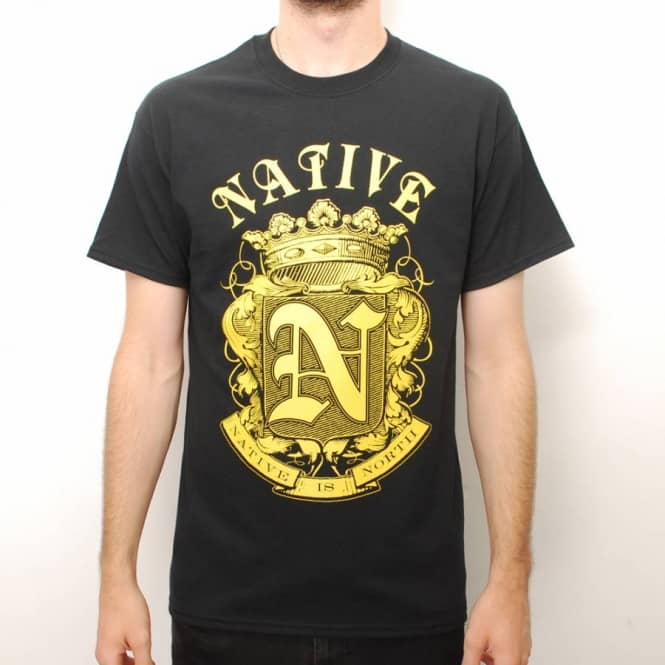 Native Native Crest Skate T-Shirt - Black/Mustard