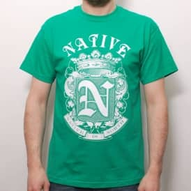 Native Crest T-Shirt Kelly Green