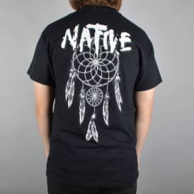 Native Dreamcatcher Skate T-Shirt - Black