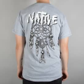 Native Dreamcatcher Skate T-Shirt - Heather Grey