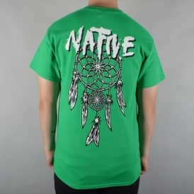 Native Dreamcatcher Skate T-Shirt - Kelly Green