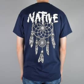 Native Dreamcatcher Skate T-Shirt - Navy