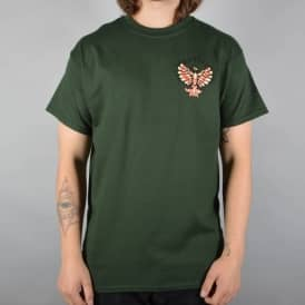 Native Eagle Skate T-Shirt - Forest Green