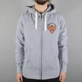 Native Eagle Zip Hooded Top - Athletic Heather