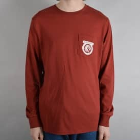 Native Longsleeve Pocket T-Shirt - Brick Red