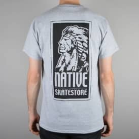 Native OG Logo Skate T-Shirt - Heather Grey