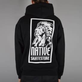 Native OG Logo Pullover Hooded Top - Black