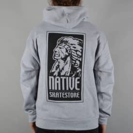 Native OG Logo Pullover Hoodie - Heather Grey/Black