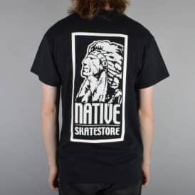 Native OG Logo Skate T-Shirt - Black/White
