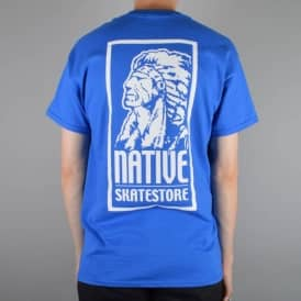 Native OG Logo Skate T-Shirt - Royal Blue