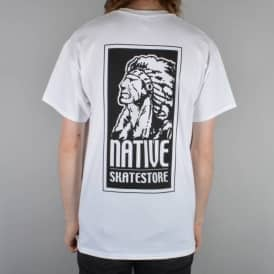 Native OG Logo Skate T-Shirt - White/Black