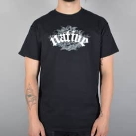 Native Ornamental Skate T-Shirt - Black