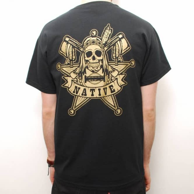 Native Native The Law Skate T-Shirt - Black