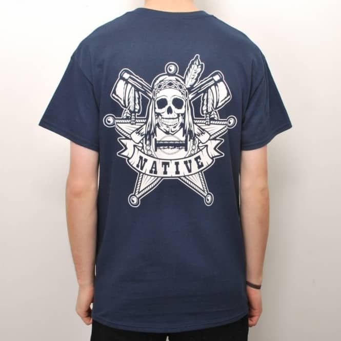 Native Native The Law Skate T-Shirt - Navy