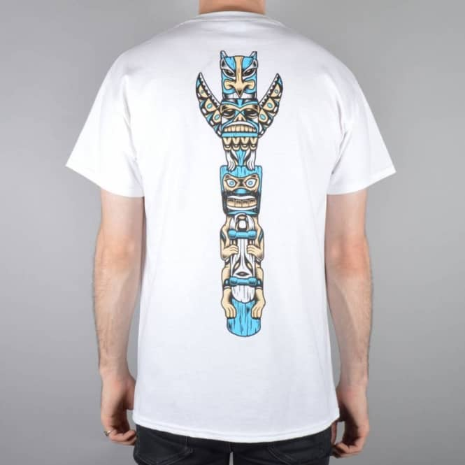 Native Totem Skate T-Shirt - White