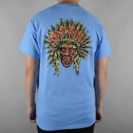 Native Zombie Chief Skate T-Shirt - Carolina Blue