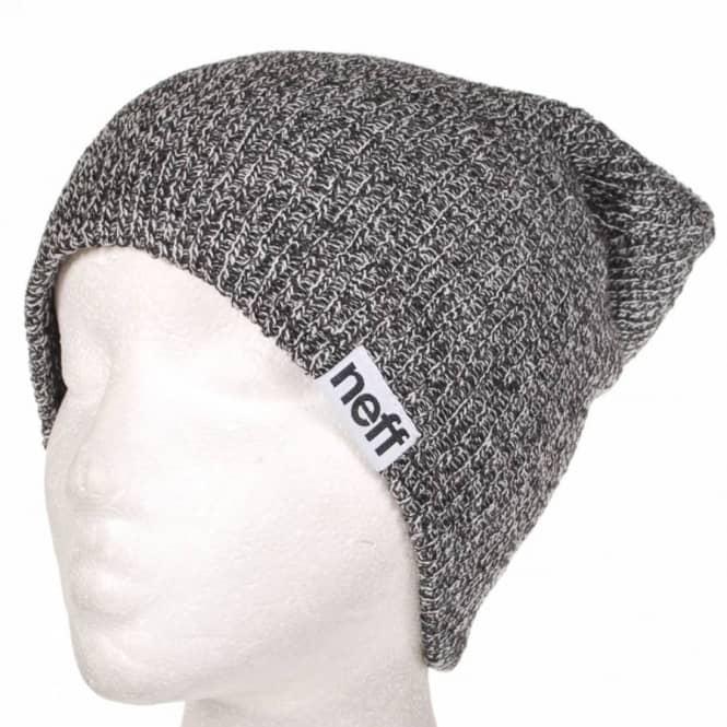 faf3592a538 Neff Headwear Neff Fold Heather Beanie - Black White - Beanies from ...
