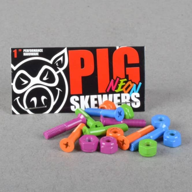 Pig Wheels Neon Skewers Phillips Coloured Truck Bolts 1