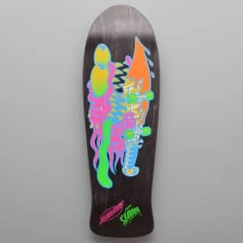 Neon Slasher Matte Black Reissue Skateboard Deck 10.0