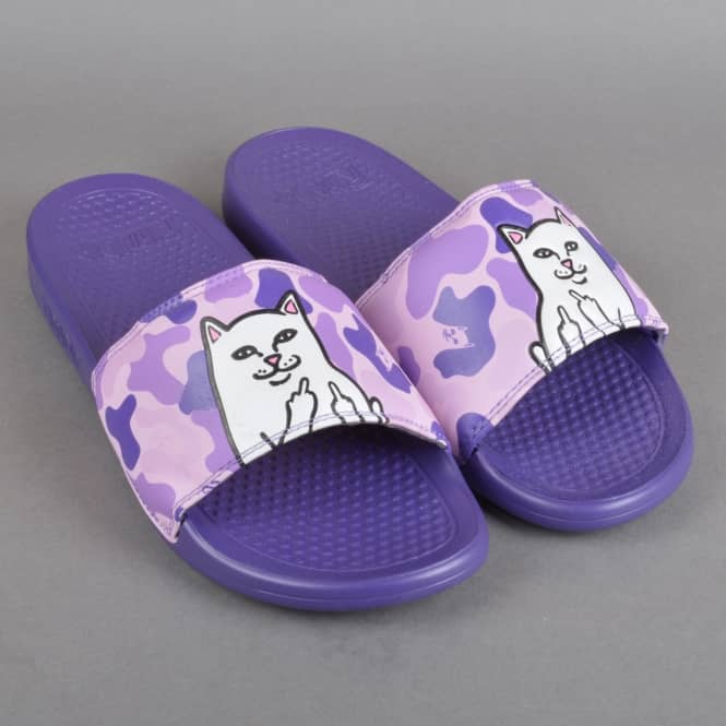 de25fbe79b0 Rip N Dip Nerm Slides - Purple Camo - SKATE SHOES from Native Skate Store UK