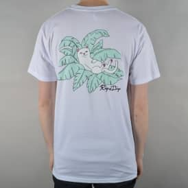 Rip N Dip Nermal Leaf Pocket T-Shirt - White