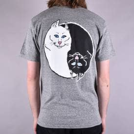 Nermal Yang Skate T-Shirt - Heather Grey