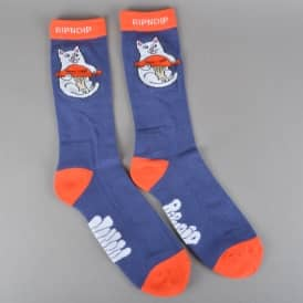 Nermshroom Socks - Navy