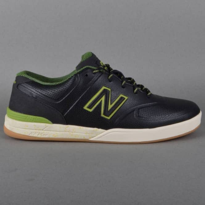 New Balance Numeric Logan 637 Levi Brown Skate Shoes - Black Asphalt/Green