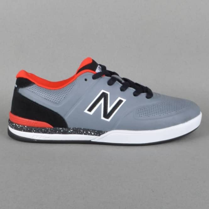 New Balance Numeric Logan 637 Skate Shoes - Grey/Red