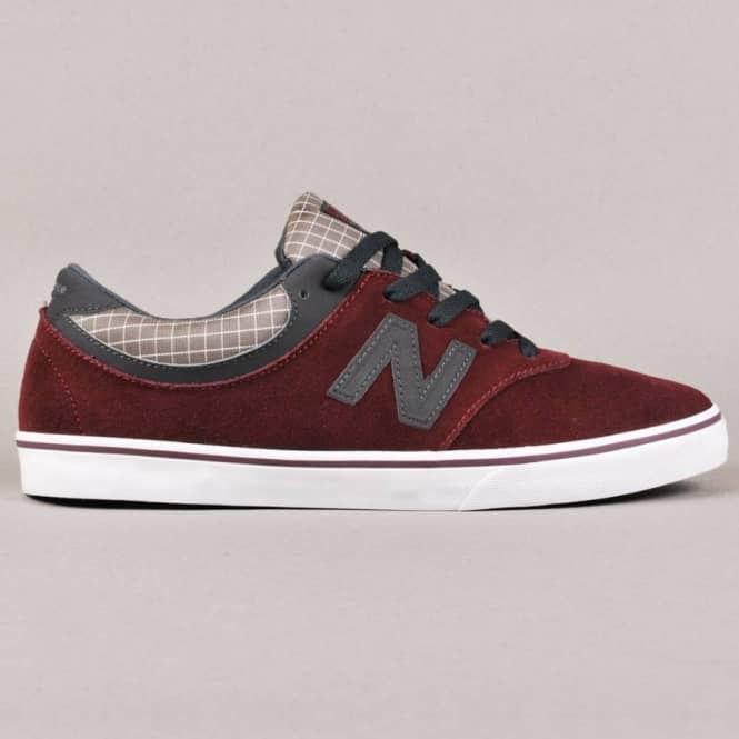 New Balance Numeric New Balance Numeric Quincey 254 Skate Shoe - Wine Red/Sky Grey